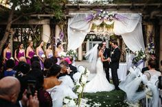 Watercolor Inspired Purple Wedding | Image by Michael Anthony Photography