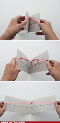 "Wow what an adorable idea for save the dates! ""We are tying the knot"" :D"