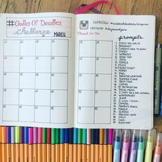 March Doodle Challenge with Free Printable - The Petite Planner