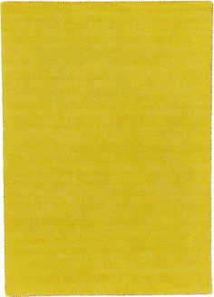 Yellow Solid Gabbeh Area Rug