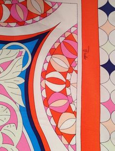 Brand New  Emilio Pucci Spring/Summer 2014 Large Silk Scarf | 1stdibs.com