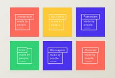 Citinerary by Frederique Matti #print #cards #colourful in Printed Materials