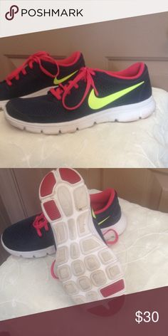 Nike shoes 6.5 gray and pink Nike 6.5 gray and pink great shape Nike Shoes Athletic Shoes