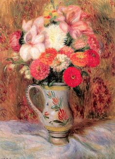 Anna Elizabeth Klumpke   Flowers in a Quimper Pitcher. 1930. Oil on canvas.