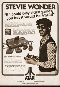 Stevie Wonder Atari ad.