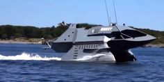 Incredible Wave Cutting Stealth Ship - go Quick so fisherman will wonder who scare all #fish ;-) #Stealth #Ship #NAVY #money