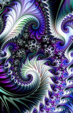 Purple Satin by =Shadoweddancer on deviantART Fractals Fractal Images, Fractal Art, Abstract Flowers, Abstract Art, Abstract Landscape, Et Wallpaper, Fleurs Diy, Fractal Design, Psychedelic Art