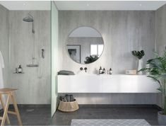 Grout Free Shower and Bathroom Wall Panels – 5 Reasons to Rethink Using Them – Innovate Building Solutions Cement Bathroom, Bathroom Wall Panels, Shower Wall Panels, Ikea Bathroom, Small Bathroom Storage, Bathrooms, Downstairs Bathroom, Master Bathroom, Laminate Wall Panels