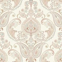 Candice Olson Inspired Elegance. Rust colored paisley wallpaper. Factory Paint & Decorating: Candice Olson's Favorite Wallpaper and Paint