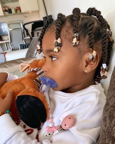 Black Baby Girl Hairstyles, Toddler Braided Hairstyles, Toddler Braids, Natural Hairstyles For Kids, Braids For Kids, Girls Braids, Natural Hair Styles, Toddler Hair Dos, Mixed Baby Hairstyles