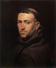 Head of a Franciscan Friar - Peter Paul Rubens (Flemish: 1577 - 1640)