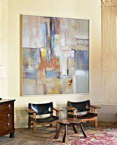 Large Contemporary Art Canvas Painting. Handmade por CelineZiangArt