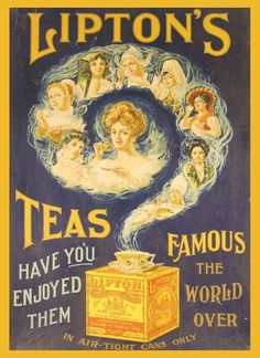 Antique advertising and vintage tea packaging. Discussion on LiveInternet - Russian Online Diaries Service Old Poster, Retro Poster, Retro Ads, Vintage Advertising Posters, Old Advertisements, Vintage Posters, Coffee Advertising, Pub Vintage, Vintage Labels