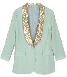 Glitter Collar Jacket