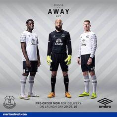 efa660e14eb Everton 15 16 Umbro Away Kit Soccer Shirts