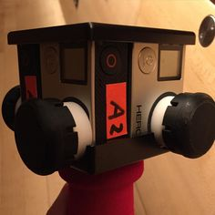 An awesome Virtual Reality pic! A #virtual way to enjoy the #holidays with a rigged #virtualreality #camera and four @gopro hooked together on a stick.  #video #camera #holiday #holidaygifts #film #cinema #manhattan #nyc #newyork #filmmaking #creativity by lorip1025 check us out: http://bit.ly/1KyLetq