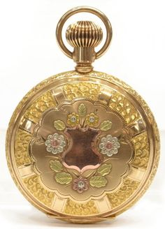 Extraordinary Waltham 14KT Gold Stag Pocket Watch