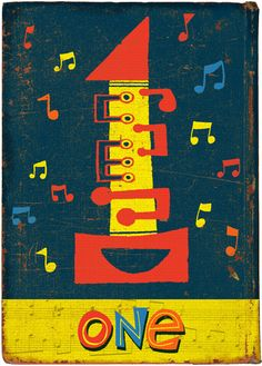 •One - part of a nice Number Set by Paul Thurlby •