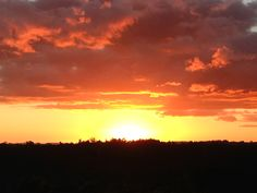 Sunset over Upper Harbour Drive, Auckland. September 2013.
