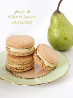 Pear and Elderflower Macarons