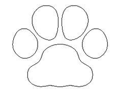 Bulldog Paw Print Pattern