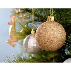 Shatterproof Luxury Christmas Tree Baubles, 50-Piece - Bronze/Silver/Gold