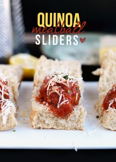 Quinoa Meatball Sliders | 29 Exciting Ways To Eat Meatballs