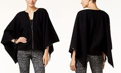 Size M. Cool! Alfani PRIMA Merino Wool Cape, Only at Macy's