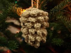 Crochet For Free: Crocheted Pine Cone