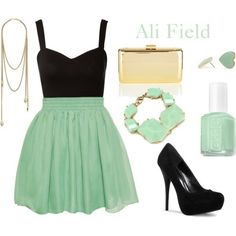 cute mint outfit - Click image to find more Women's Fashion Pinterest pins