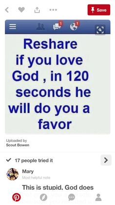 Honestly, god is good but this isn't the way to like promote him Faith Quotes, True Quotes, Funny Quotes, Qoutes, Luck Quotes, Funny Text Conversations, Chain Messages, Gods Love, My Love