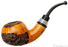 Neerup Classic Partially Rusticated Bent Apple (2) Pipes at Smoking Pipes .com