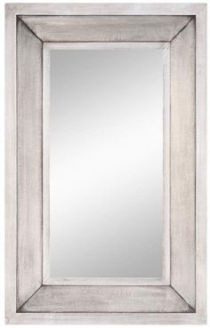 "Cooper Classics 40018 Garner 44"" X 28"" Rectangular Wall Mirror Aged Silver Home Decor Mirrors Lighting"