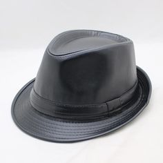 258812ce5c6 SUOGRY 2018 New Fedoras Fashion PU Jazz Small Fedora Hat Faux Leather Solid Men  Women's Hats
