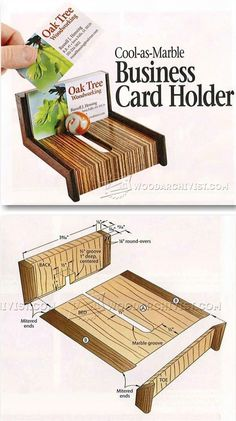 Wooden Business Card Holder Plans - Woodworking Plans and Projects | WoodArchivist.com