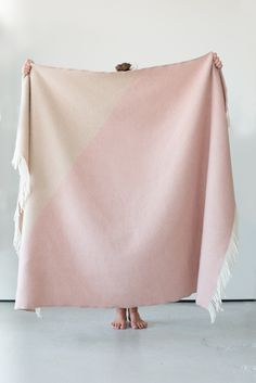 Triangle Chalk blanket by Forestry Wool
