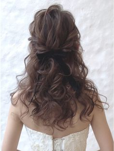 Curled Hairstyles, Wedding Hairstyles, Cool Hairstyles, Hair Setting, Asian Hair, Wedding Pinterest, Hair Inspo, Dyed Hair, Bridal Hair