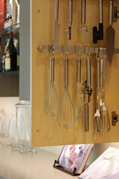 Joanna & Mike's Perfect Fusion of Glass, Wood, Steel, and Stone (utensil ideas)