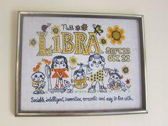 Libra vintage crewel