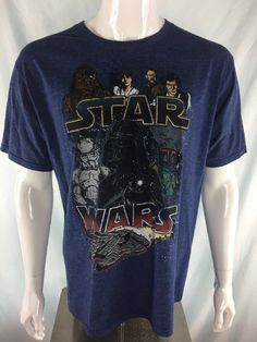 0af7fbed Star Wars T-Shirt Size XL Blue Graphic Tee VTG Free Shipping #StarWars #