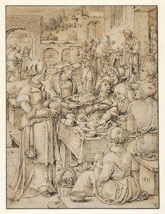 De Spijziging van de Armen,  Pieter Cornelisz. Kunst, 1531 |  Museum Boijmans Van Beuningen