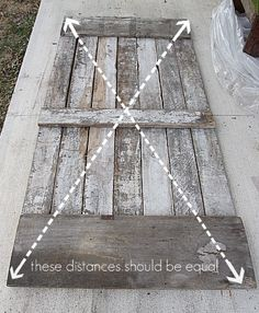 Making a sliding barn door.  Basement closet doors?  http://www.housetweaking.com/2011/02/10/diy-sliding-barn-door-part-i/