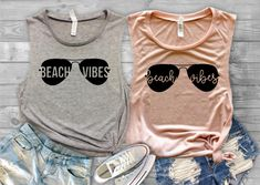 Beach Vibes Tank Top//Beach Vacation Shirt//Vacation Shirt//Shirt for Her by ThePineappleWay on Etsy Beach Shirts, Summer Shirts, Girls Weekend Shirts, Summer Tops, Beach Vibes, Summer Vibes, Beach Vacation Outfits, Beach Vacations, Vacation Destinations