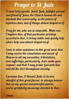 Pictures of Prayers & Christian Quotes: Images to Save and Share! St Jude Prayer, Faith Prayer, St Jude Novena, Prayer For Help, Prayer Pictures, Novena Prayers, Deliverance Prayers, Bible Prayers, Miracle Prayer