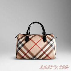de nouveaux styles venant Burberry Large Nova Check Bowling Bag 34599131