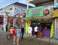 Ocean City Maryland Boardwalk, Bethany Beach Boardwalk, Rehoboth Beach Boardwalk, Ocean City Md, Fractured Prune Donuts, Ocean City Restaurants, Seafood Buffet, Doughnut Shop, Family Vacation Destinations