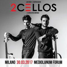 Le rockstar del violoncello annunciano l'unica data in Italia del World Tour 2017 con l'Orchestra Sinfonica Biglietti in vendita alle ore 10 di venerdì 21 ottobre su TicketOne.it!