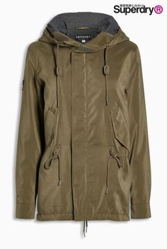 dba68ff16 Buy Superdry Khaki Microfibre Project Parka from the Next UK online shop