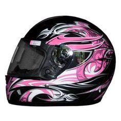 e5c43c9f womens motorcycle helmet with pink sheld | THH Pink Black Graphic Helmet  Womens Motorcycle Helmets,