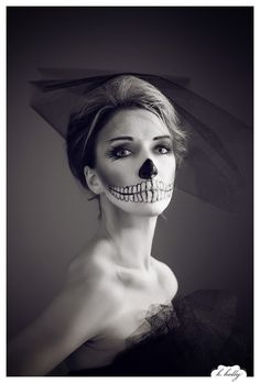 halloween makeup - skeleton corpse bride